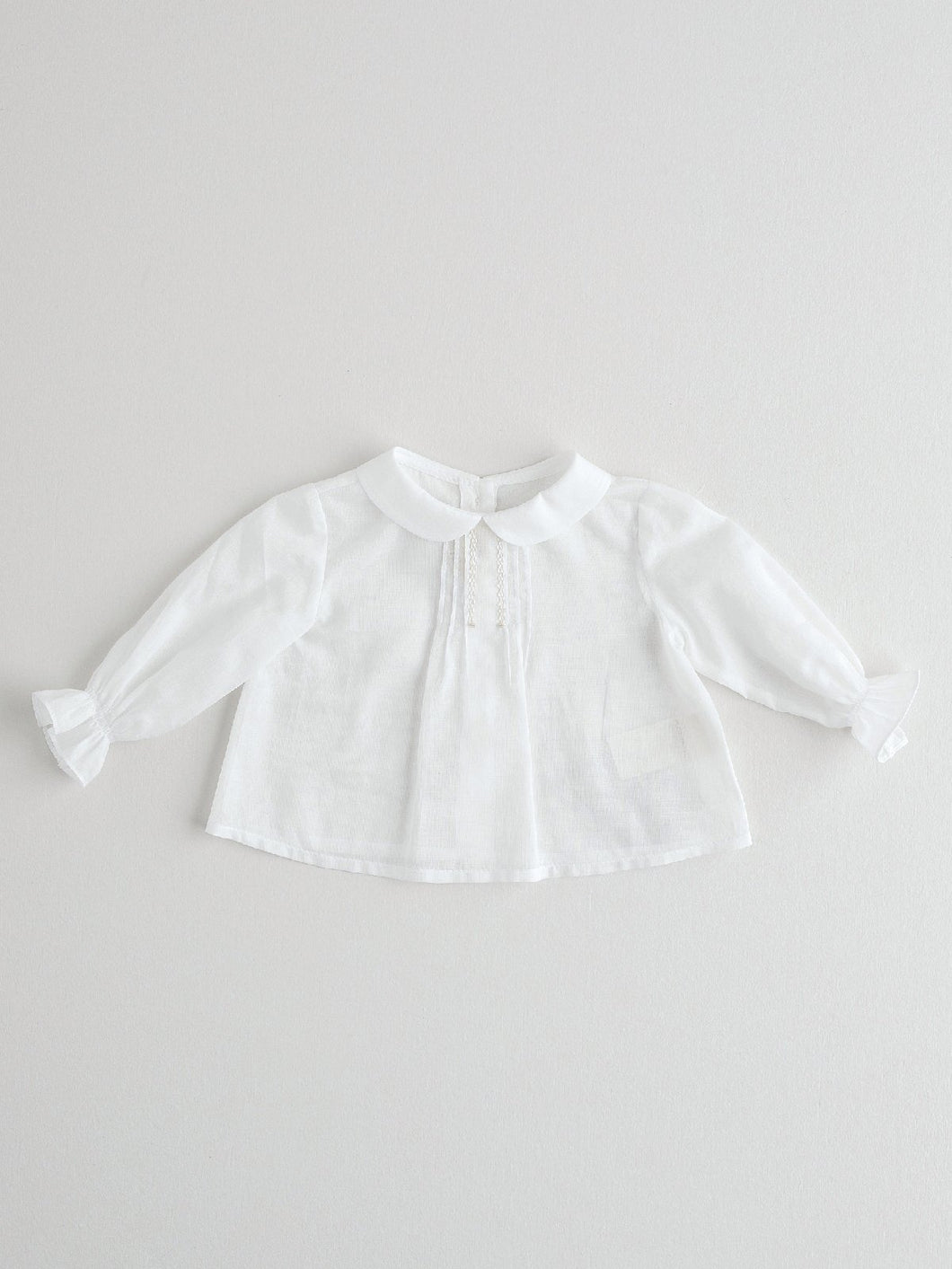WHITE BLOUSE FOR NEWBORN BABIES