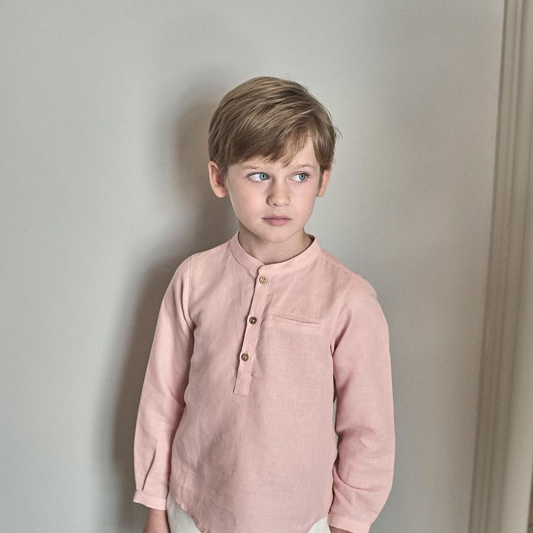 BOYS SHIRT WITH ROUNDED NECK