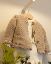Load image into Gallery viewer, KNITTED  LIGHT BROWN CARDIGAN