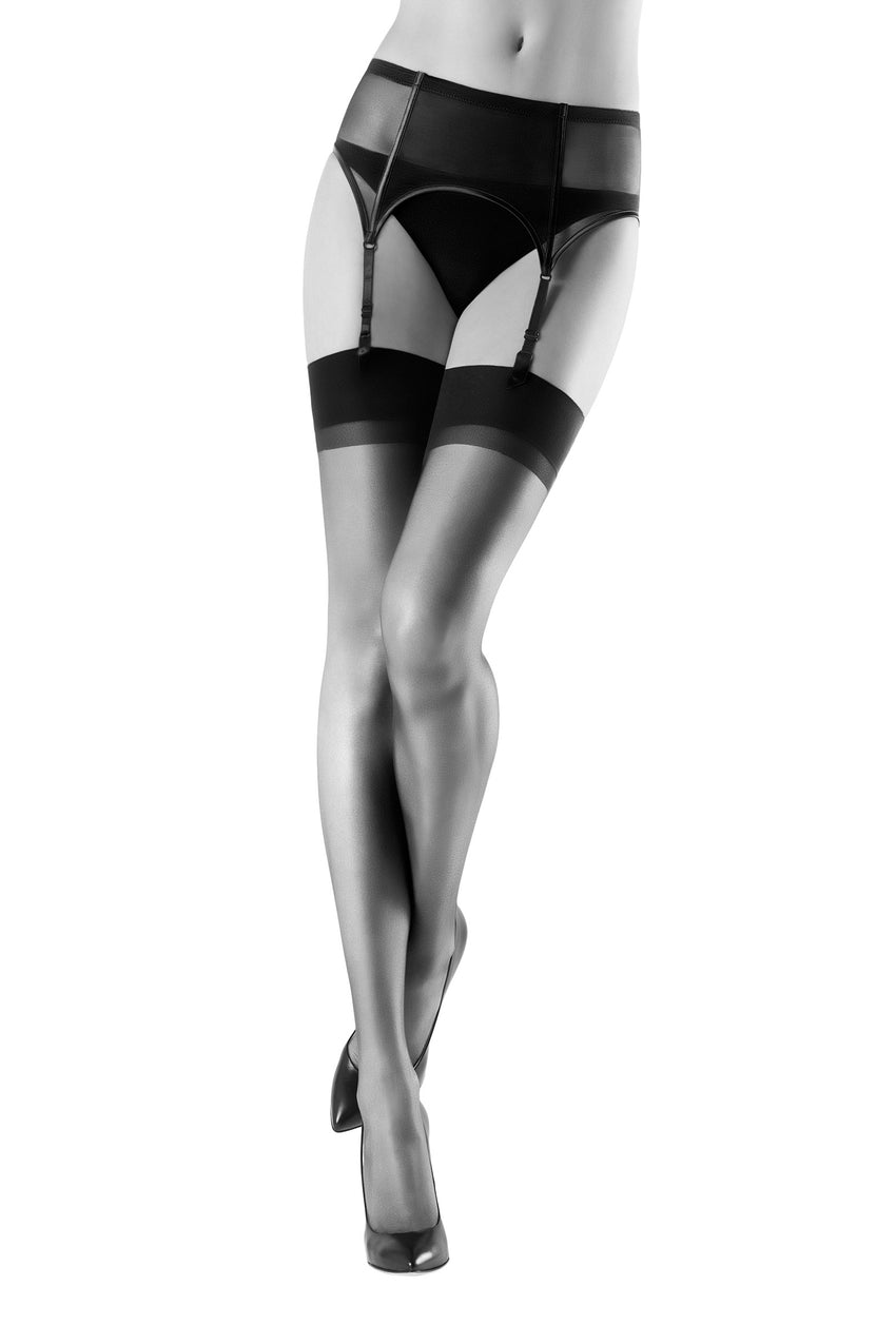 Oroblu Lycia 15 Thigh Highs Extra sheer thigh highs in a matte finish, with wide stay-up bands for all-day comfort.