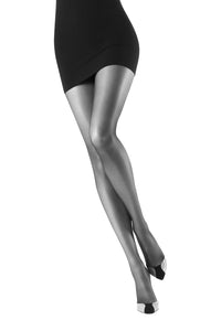 Oroblu Elegant 15 Reinforced-top sheer tights in neutral shades with a semi-matte finish.