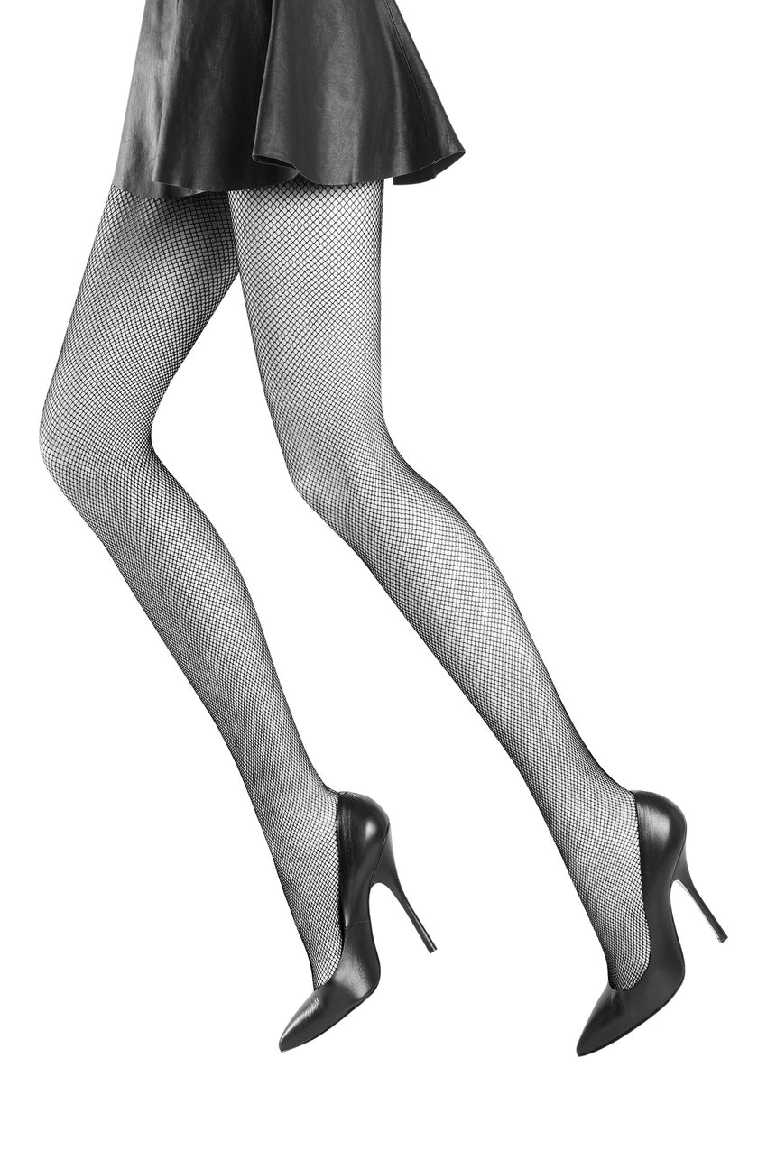 Oroblu Tricot Tights Micro fishnet tights with support at the waist for a leg-lengthening look.