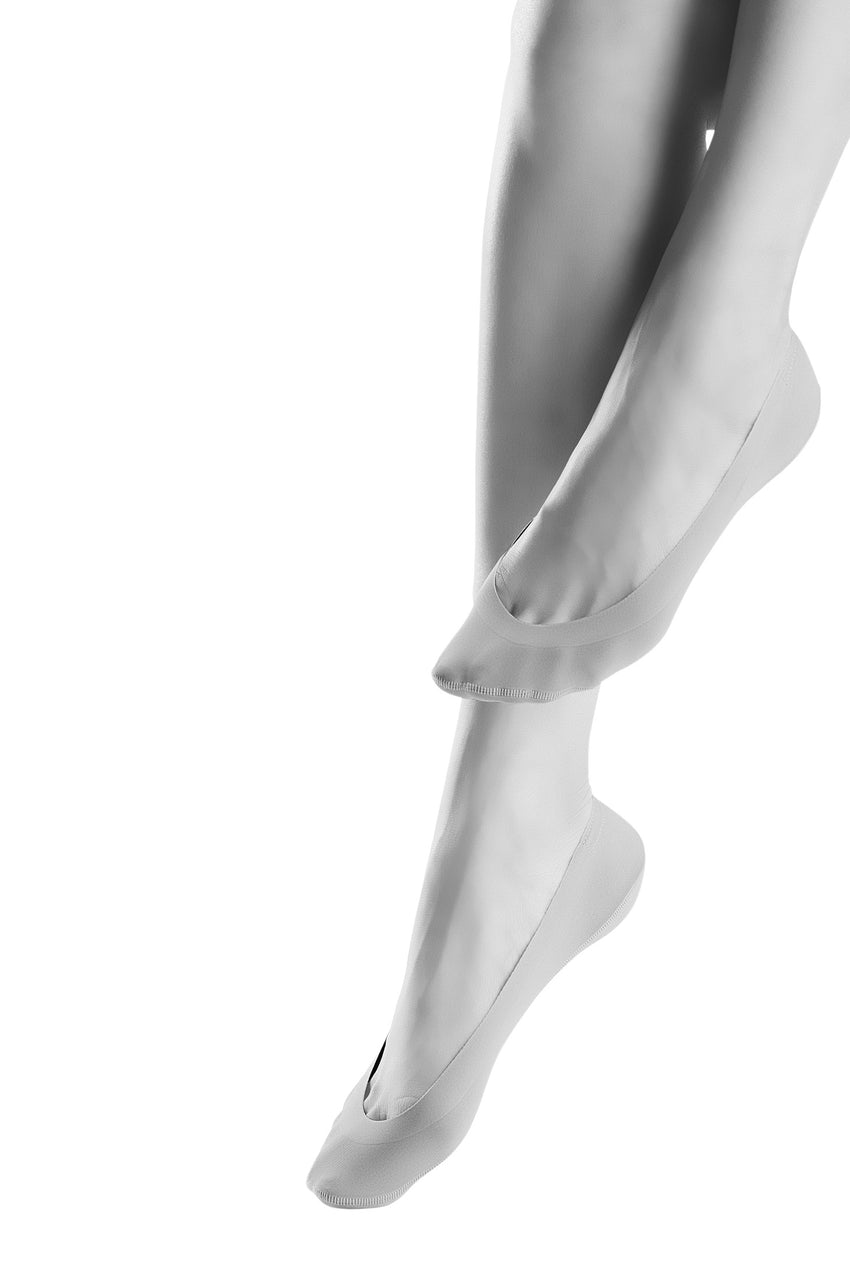 Oroblu Solange Invisible Hemless no-show socks with non-slip silicone heels.