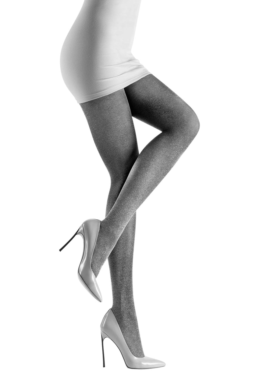 Oroblu Colette Opaque tights with a soft heathered look.