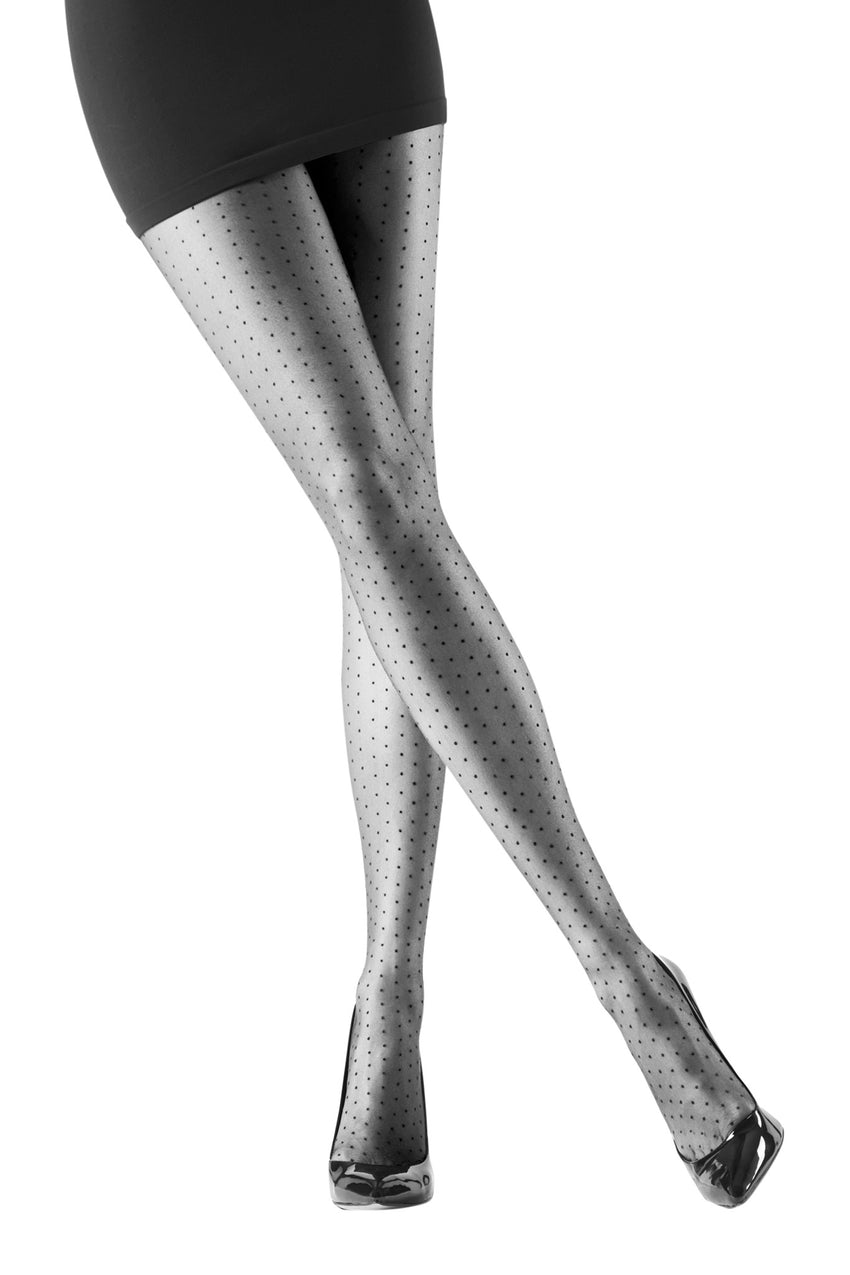 315f21e913 Oroblu Adelle Tights Patterned tights in sheer matte mini polka dot ...
