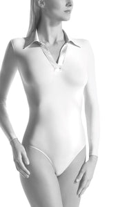 Oroblu Satinee Bodysuit Satin Neck The classic bodysuit smartens up with a satin collar and wraps you in skin-protecting smooth microfiber, with snap gusset closure.