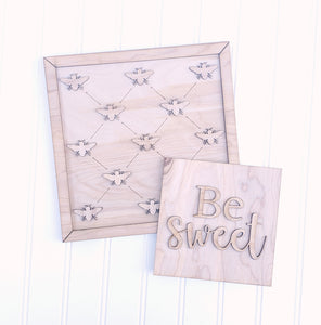 DIY Be sweet sign duo