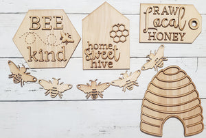DIY Bee tiered tray kit.