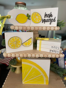 Lemon tiered tray kit