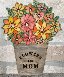 DIY flower pot sign