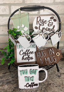 DIY Coffee tiered tray kit