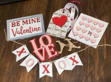 Load image into Gallery viewer, DIY Valentine's Tiered tray size decor pieces