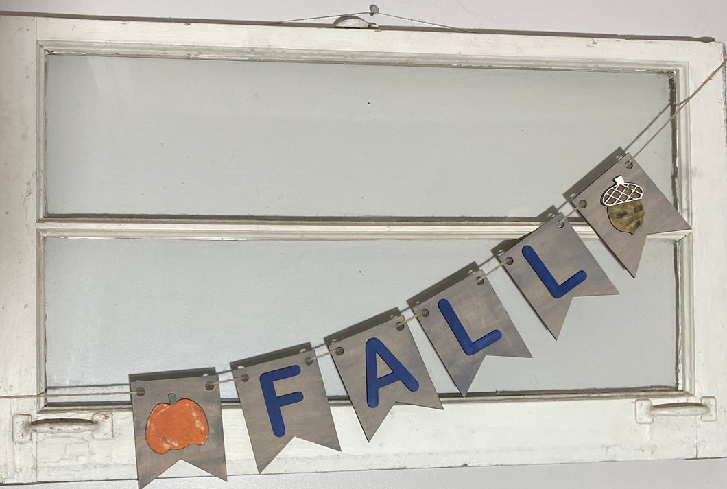 Fall banner DIY kit