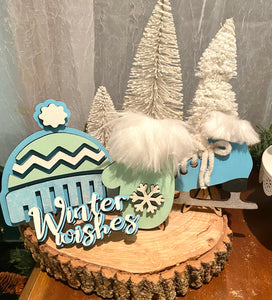 DIY winter decor pieces