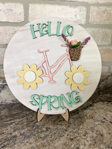 DIY spring bike sign.