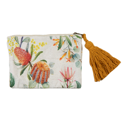 Australia  Florin Clutch Bag with zip and tassle BG4011-Florin