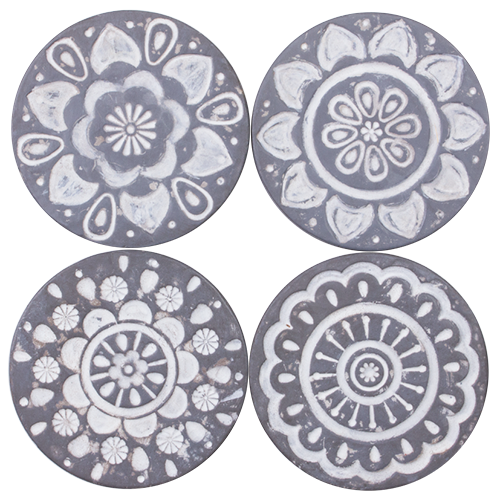 Resin Drink Coaster Set - Mandala - set of 4- 10x10x1cm COS043-Mandala