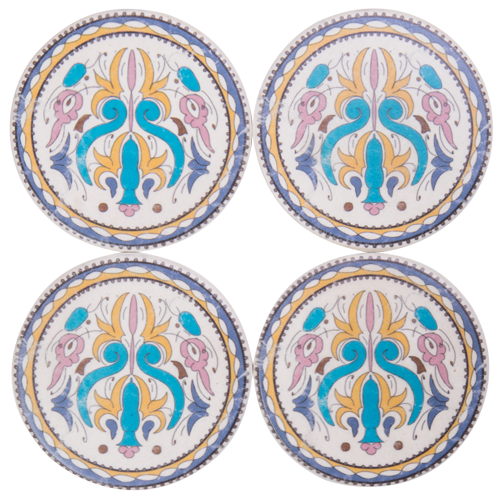 Set of 4 Resin Coasters- 10x10x1cm COS420-Sintra