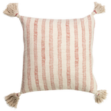 Hand Woven Cotton Slub Cushion 60cm - prefilled with insert LCC527-Coral