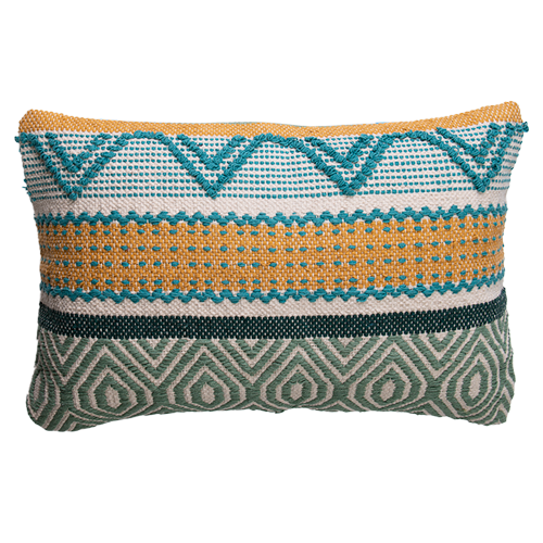 Woven Embellished Cushion 40x60cm - prefilled with insert LCC809-Lemon