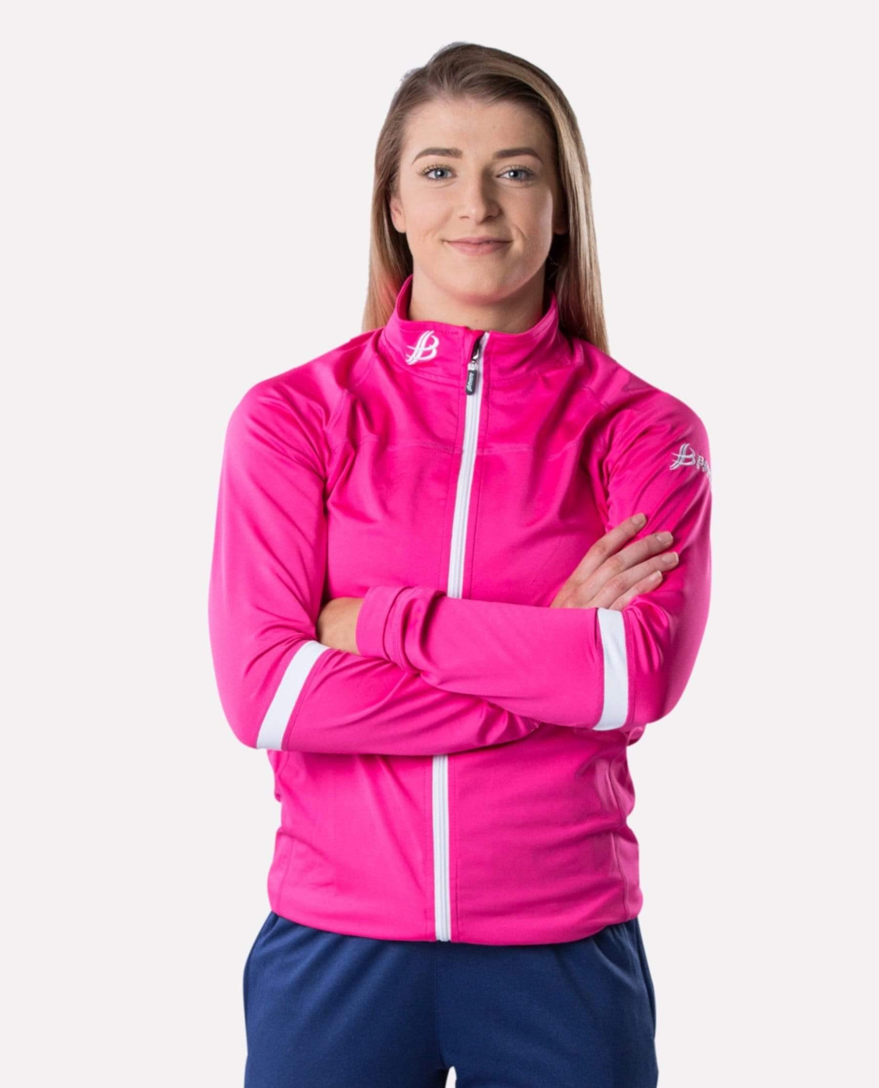 ALPHA Adult Full Zip (Pink/White)