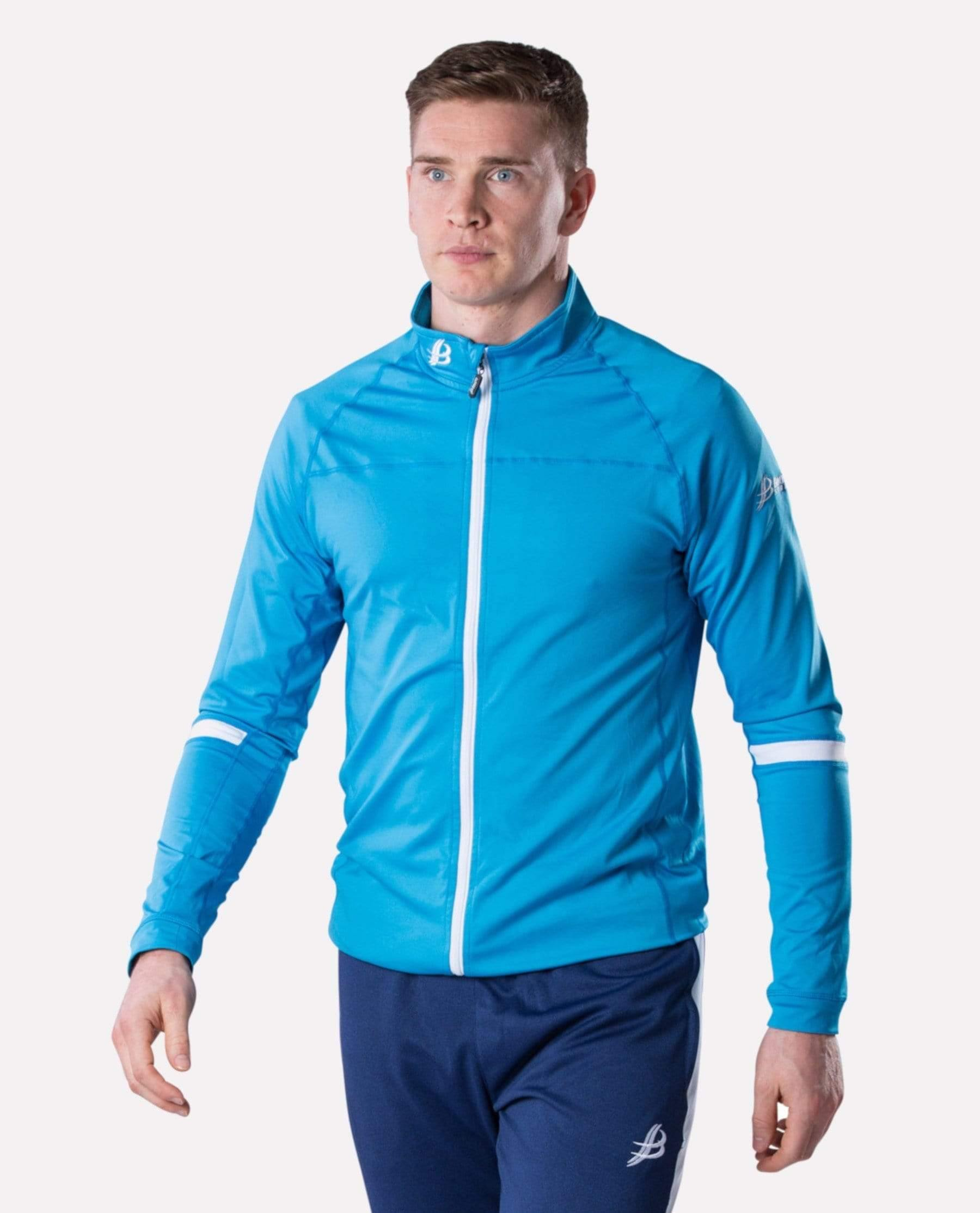 ALPHA Adult Full Zip (Cyan/White)