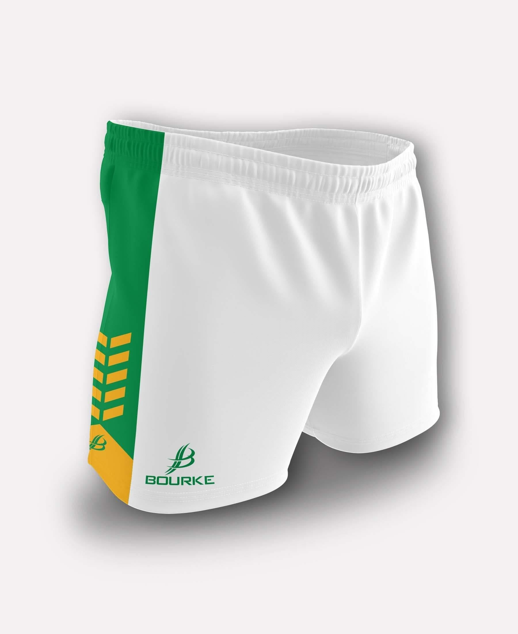 Chevron Kids Shorts (White/Green/Amber)