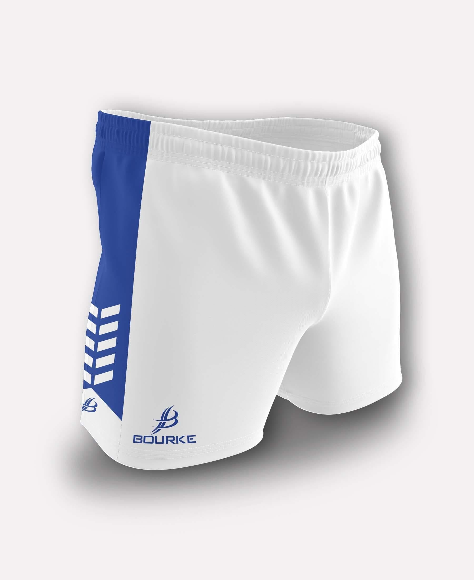 Chevron Kids Shorts (White/Royal)