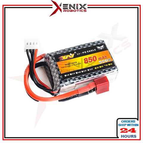 11.1v LiPo Battery 850mAh 25c Rechargeable Battery (Suitable for 1kg Sumo Robot)