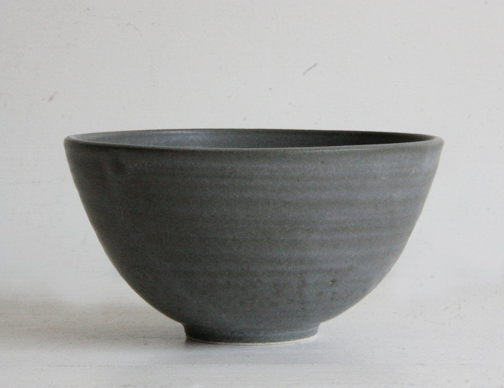 Handmade Decorative Bowl Charcoal Side View
