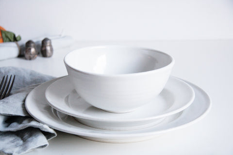 Farmhouse Dinner Set - Classic White