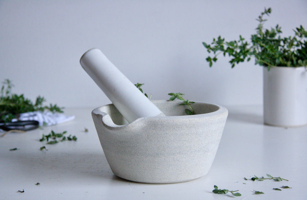 Vermont Stoneware Mortar and Pestle