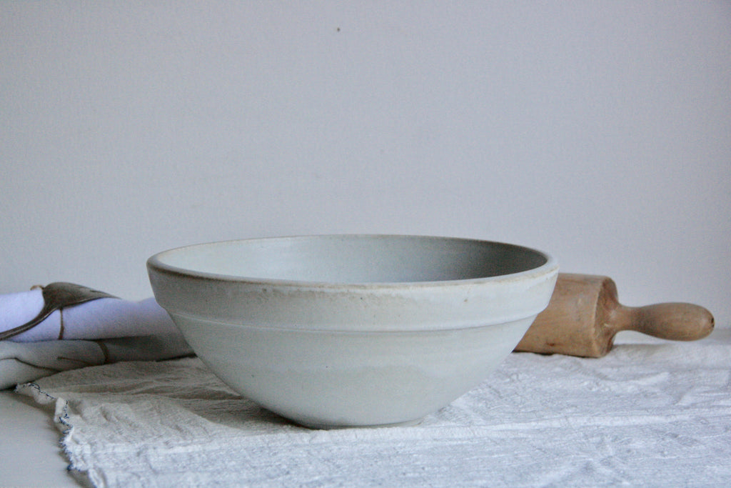 Classic White Serving Bowl on Table