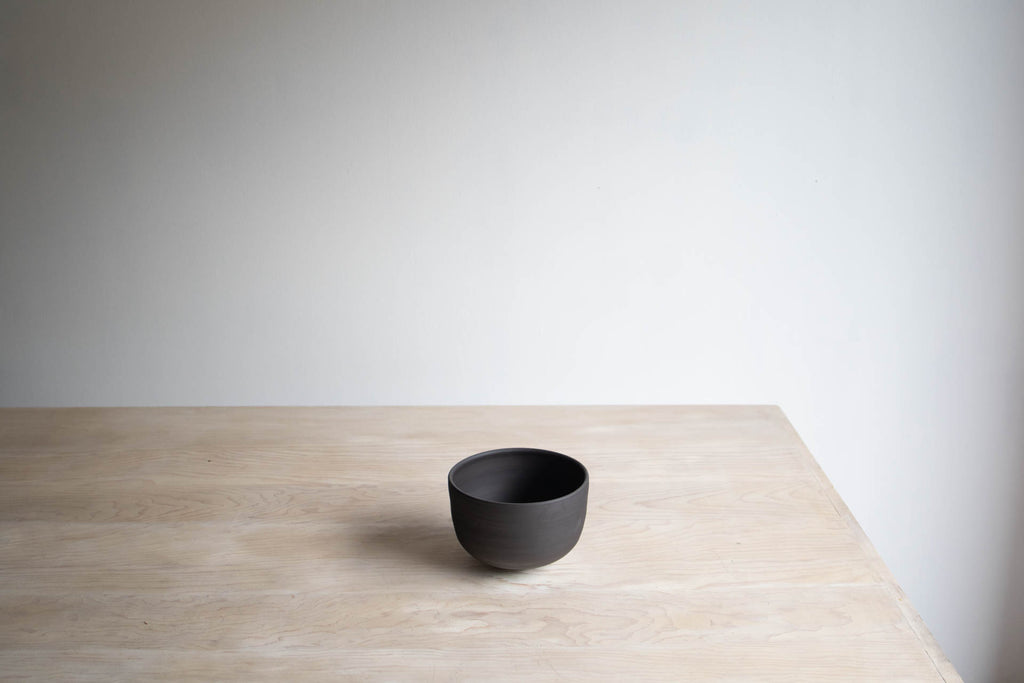 Black Clay Ceramic Bowl