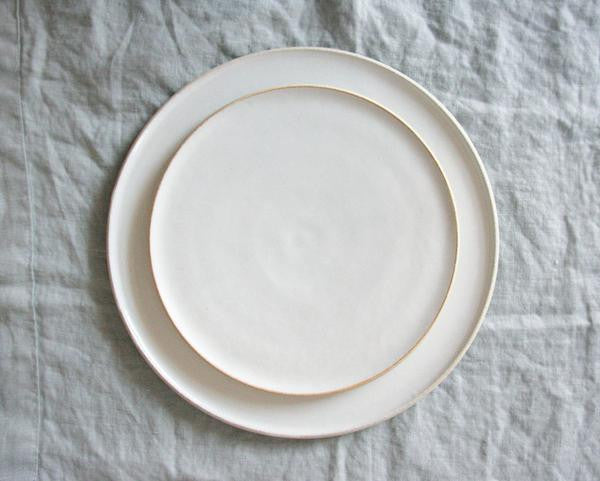 Classic White Silverlake Collection Ceramic Handmade Plates