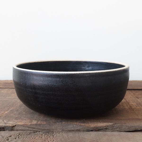 Black Handmade Ceramic Soup Bowl