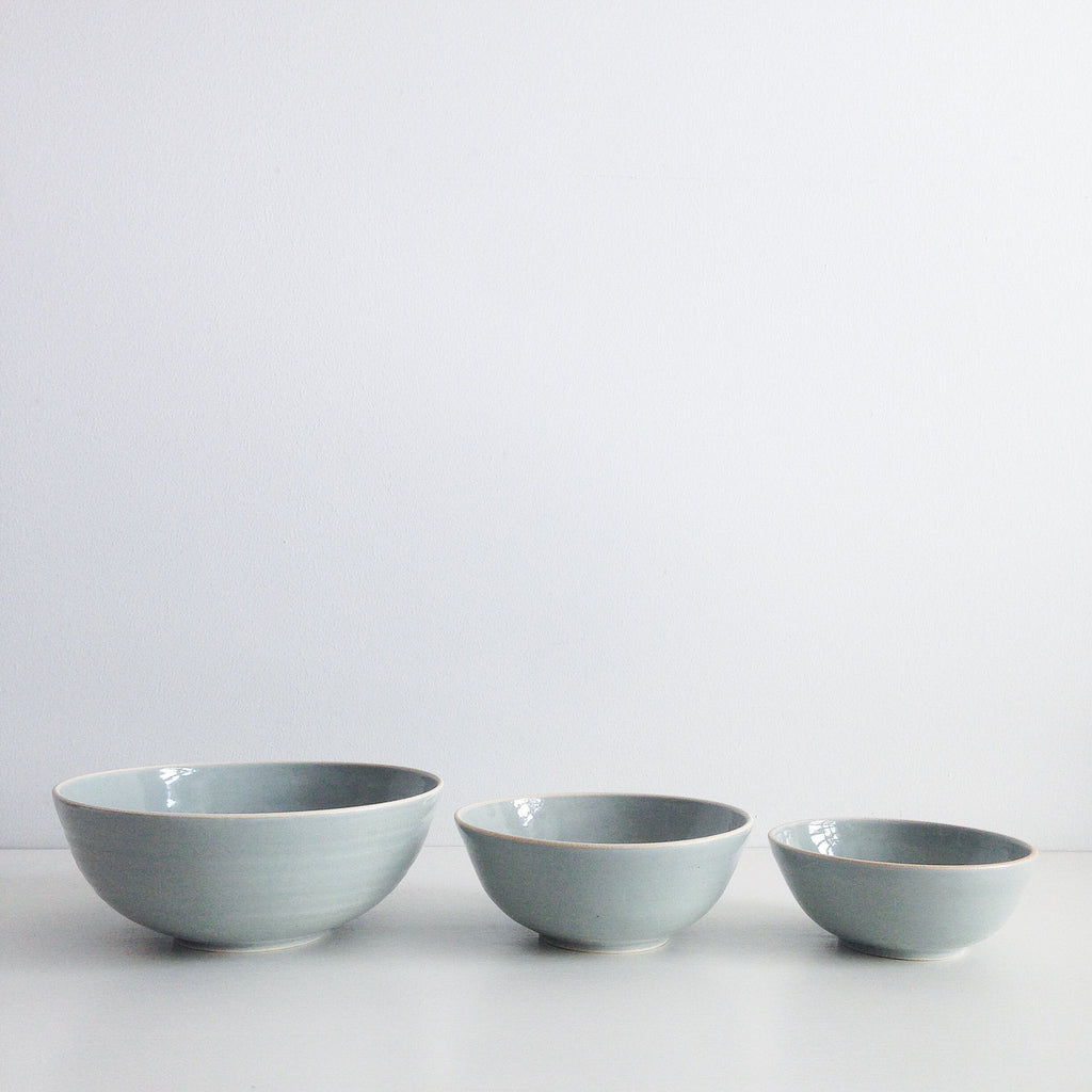 Serenity Blue Ceramic Bowl Set