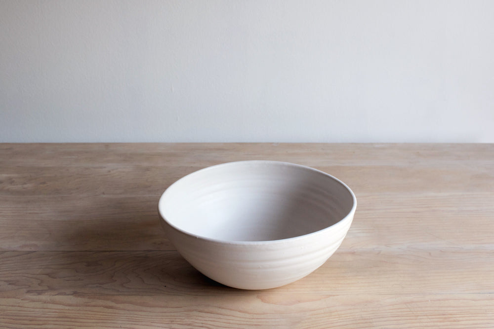 Eggshell Statement Bowl Handmade Ceramics on Table