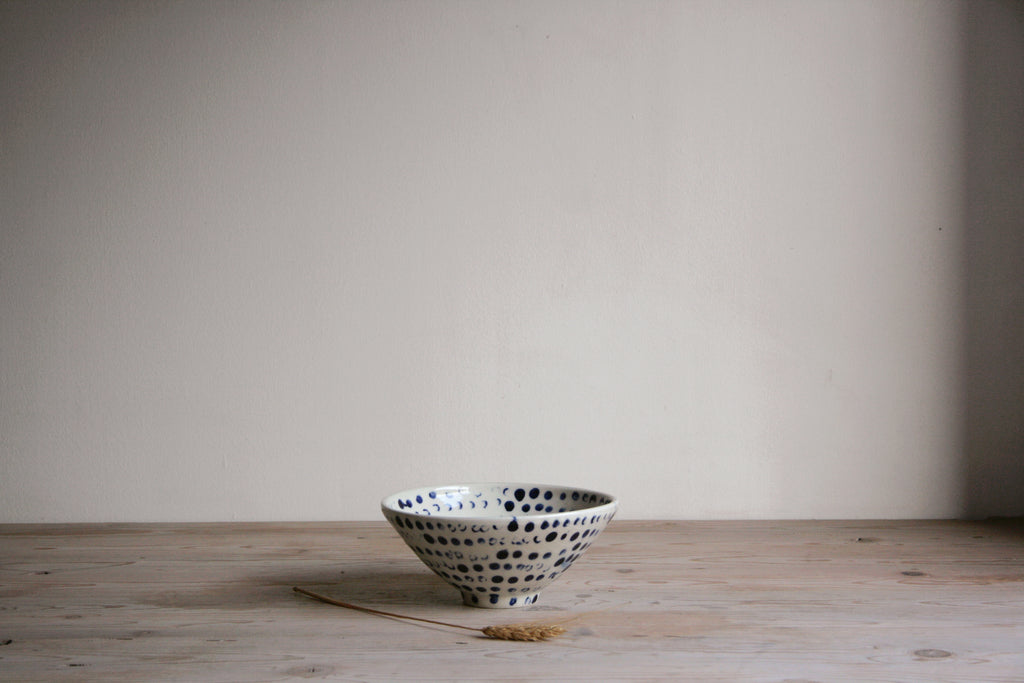 Cobalt & White Bowl - Fingertips