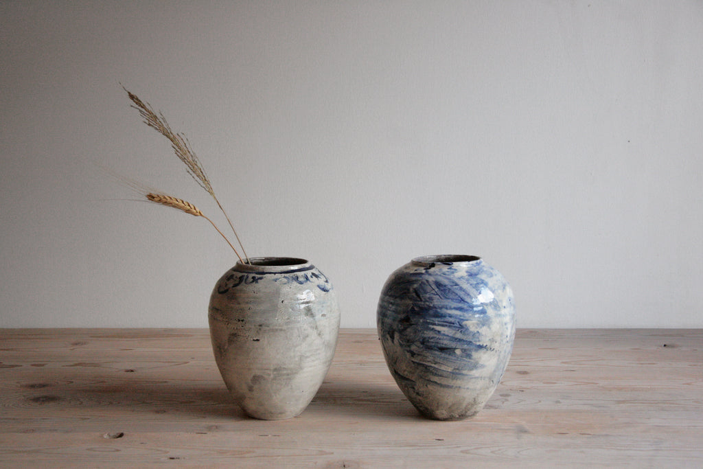 Cobalt & White Vases No. 1 & 2