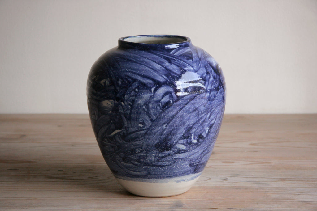 Cobalt & White Vase No. 10