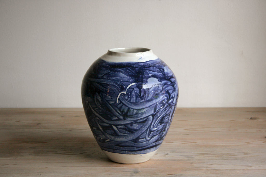 Cobalt & White Vase No. 11