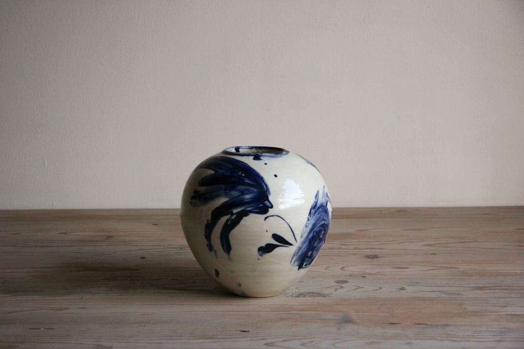 Cobalt & White Vase No. 3