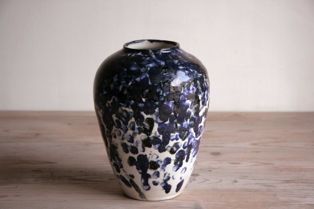 Cobalt & White Vase No. 4