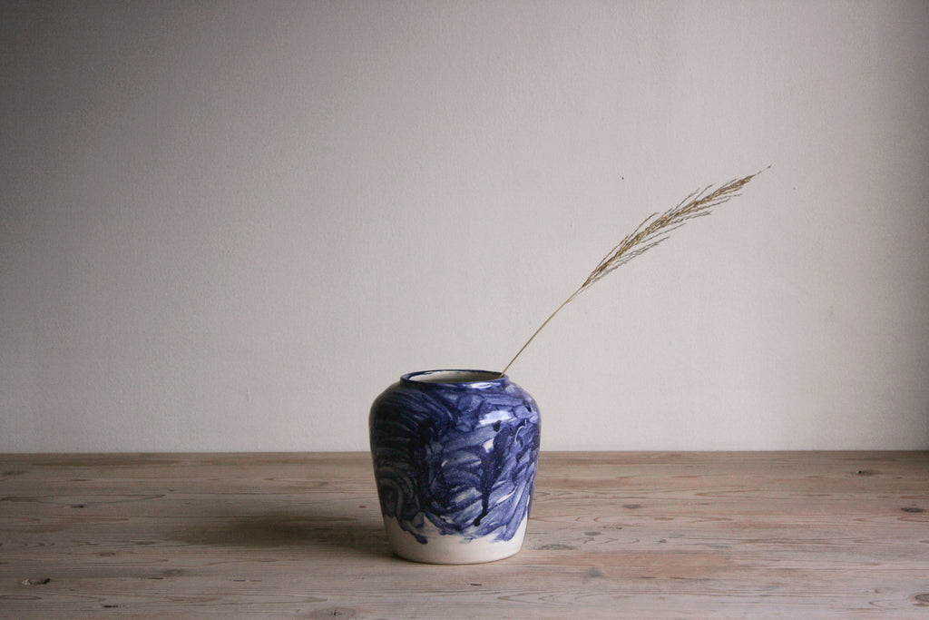Cobalt & White Vase No. 8