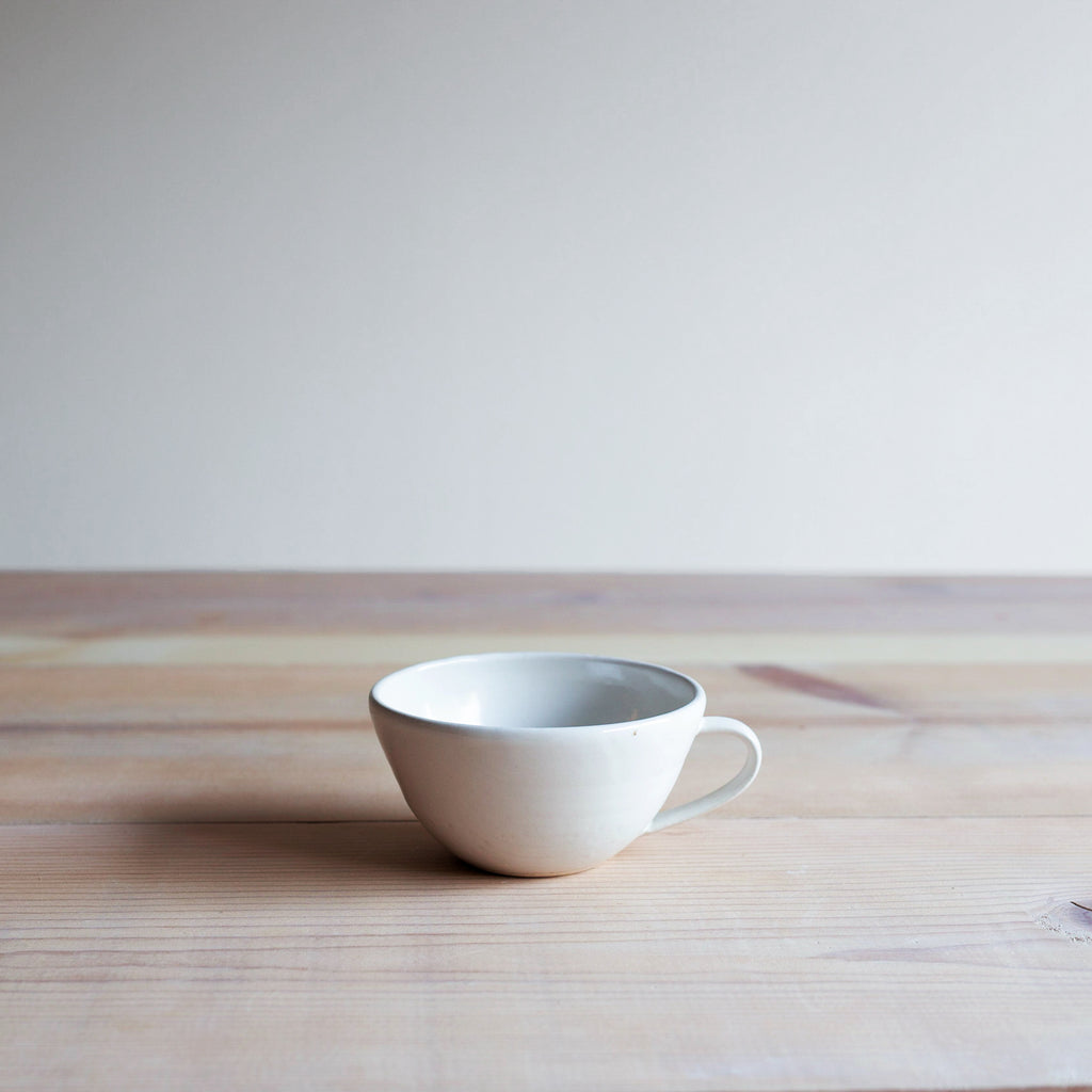 Eggshell Farmhouse Pottery Latte Cup