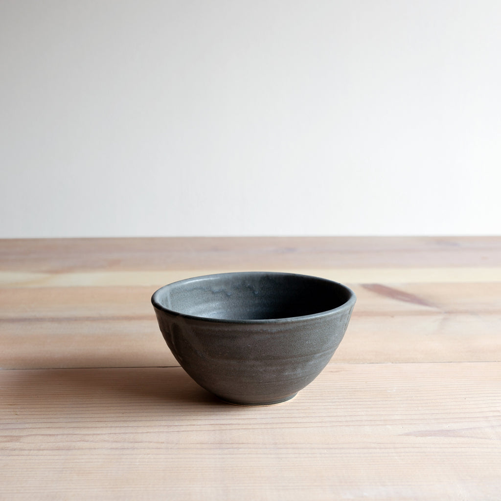 Charcoal Soup Bowl Farmhouse Pottery