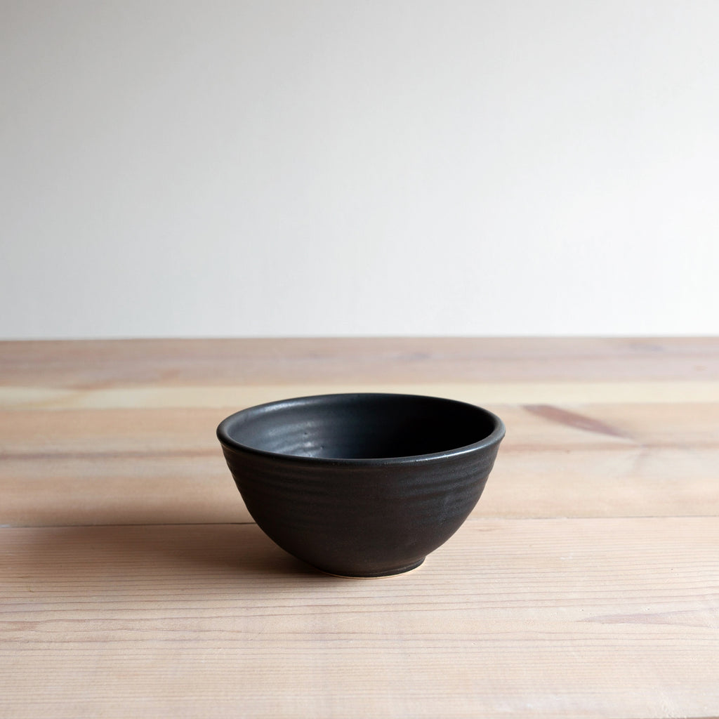Black Soup Bowl Farmhouse Pottery