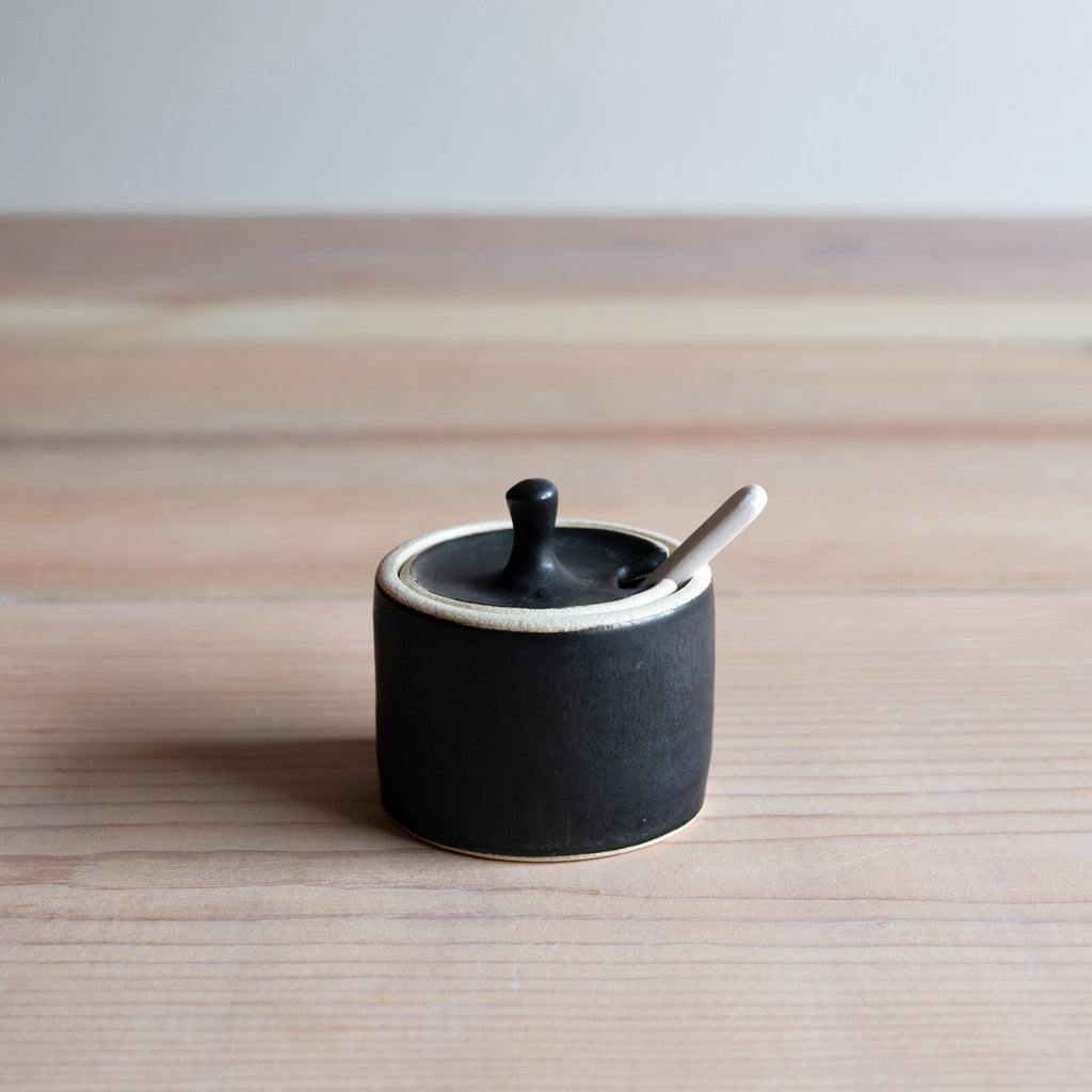 Satin Black Handmade Ceramics Farmhouse Pottery