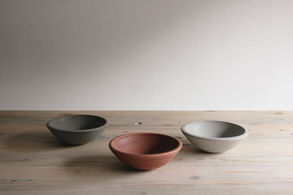 Stoneware Kitchen Bowl in Sienna, Stone, and Desert Sage